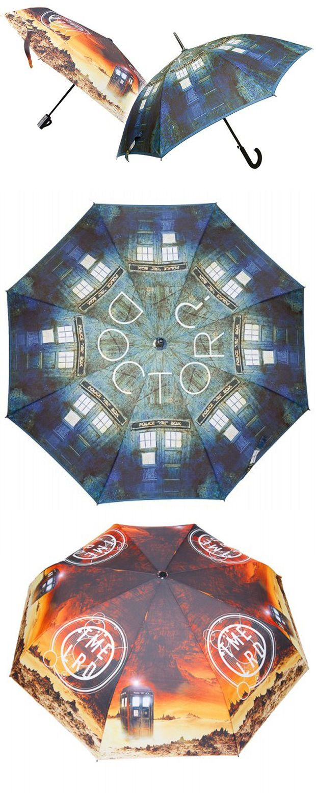 Doctor Who TARDIS Umbrellas: Whovian in the Rain If you are looking an umbrella to keep you and your companions dry, you can't go wrong with these Doctor Who TARDIS umbrellas. One features a repeating TARDIS pattern, while the other shows the TARDIS on an alien planet. - See more at: http://technabob.com/blog/2015/03/05/doctor-who-tardis-umbrellas/#sthash.DNKyPRrK.dpuf