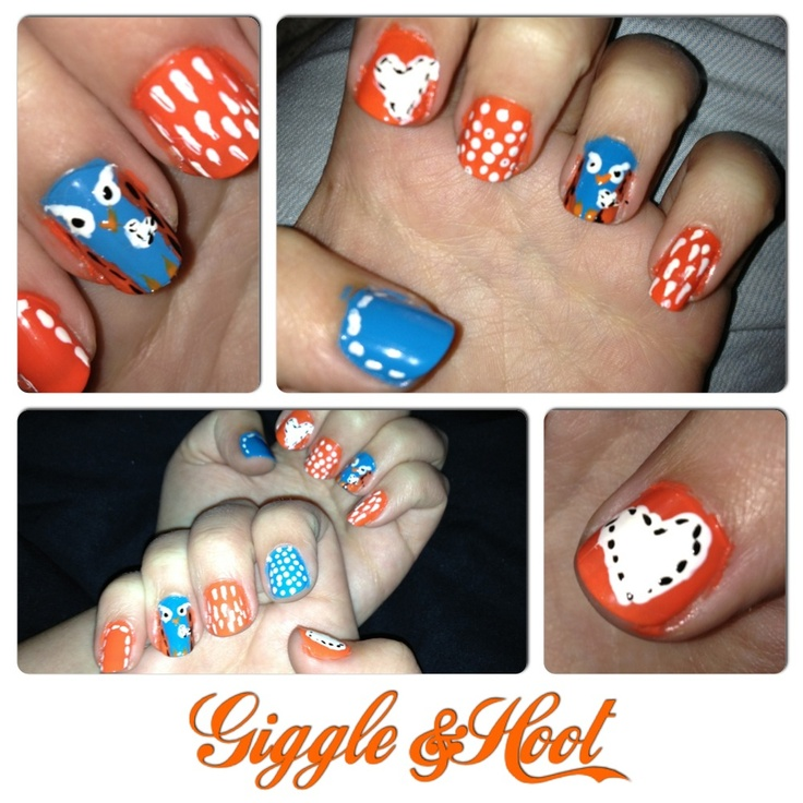 Giggle and hoot nails - abc - Jessica Howson Design
