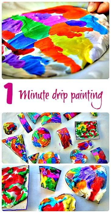 Quick and easy process based art activity. #artprojects #artactivities
