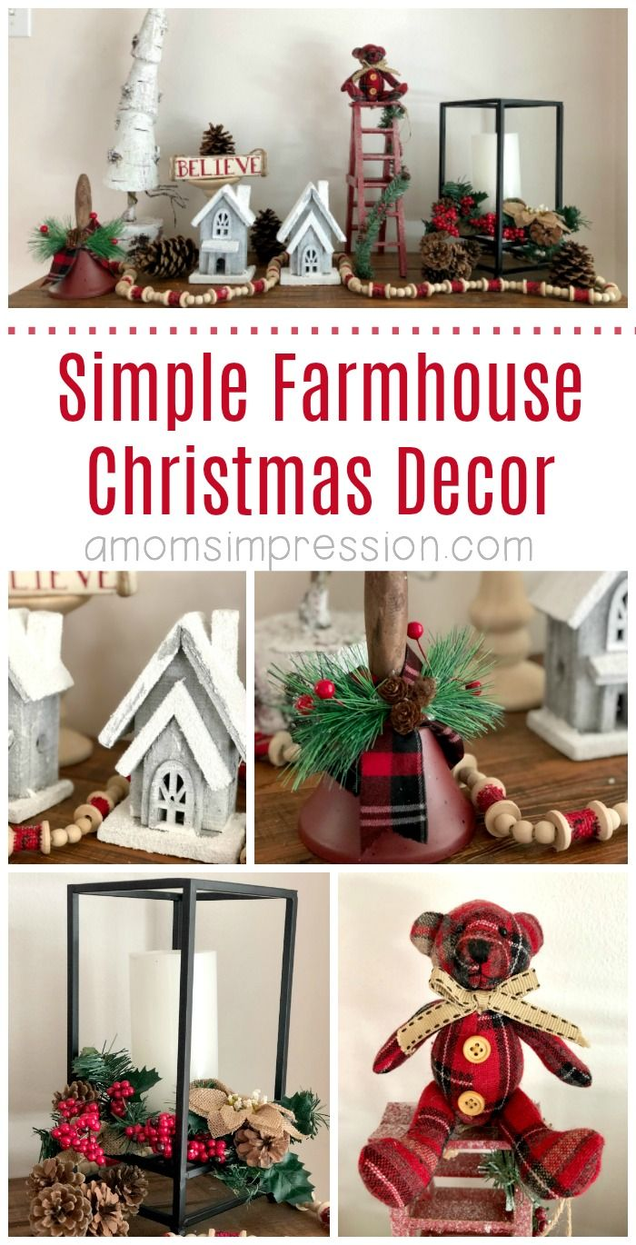 It S A Farmhouse Christmas Here Are Some Simple Diy Farmhouse Christmas Decor Ideas Th Christmas Decorations Farmhouse Christmas Decor Holiday Decor Christmas
