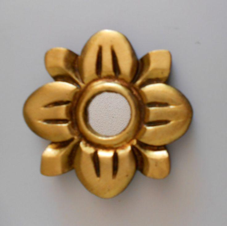 "3.75"", Mirror Gold, Round Mirror, Wall Mirror, Gold Mirror, Gold Leaf Mirror, Wall Hanging Mirror, Gold Frame, Ornate Mirror by GoldLeafGirl on Etsy"