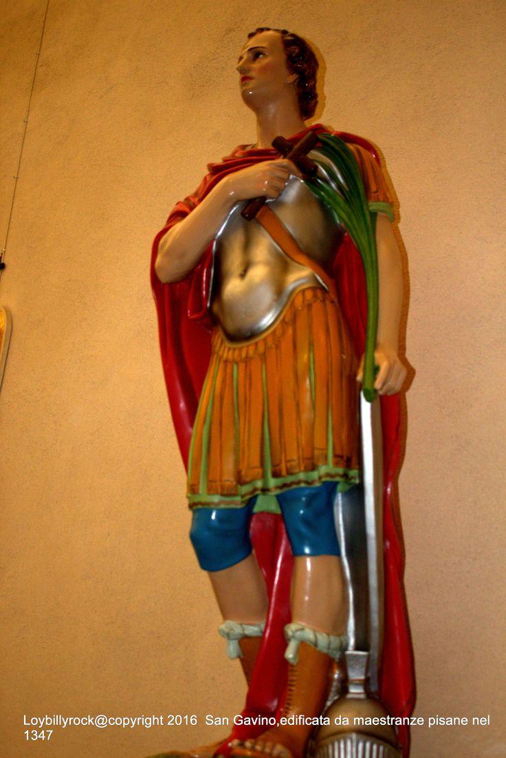 La statua di Gavino Martire e soldato, San Gavino Monreale, Cagliari
