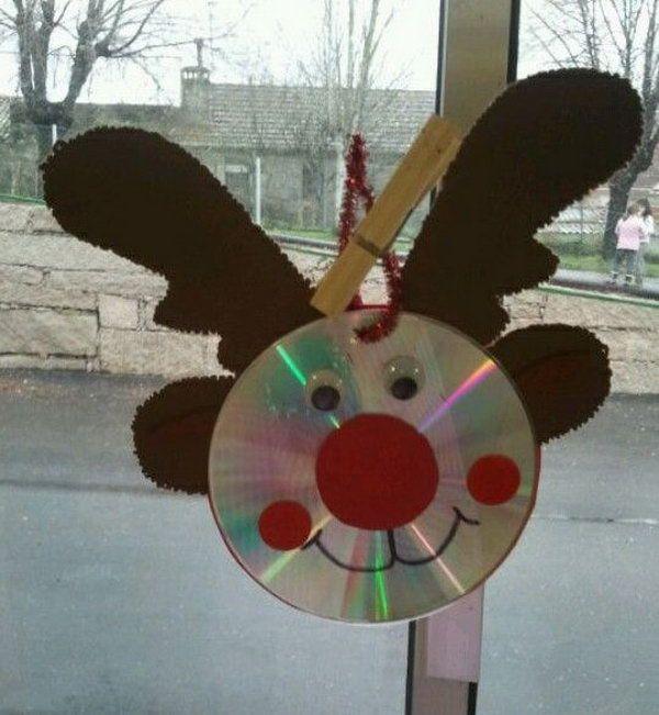 Reindeer CD Art. Cool Reindeer Crafts for Christmas, http://hative.com/cool-reindeer-crafts-for-christmas/,