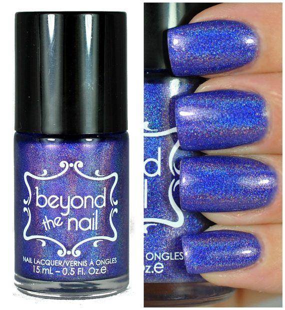 Space Cadet  Holographic Purple Jelly Nail Polish by beyondthenail