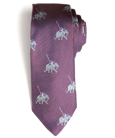 Elephant Polo tie from Figs. Darn it, why do all the awesome ethical brands gotta be so expensive!