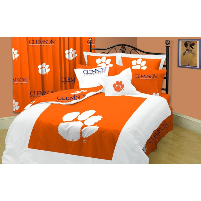 Clemson Tigers Twin Xl Size 10 Piece Dorm Bed In A Bag