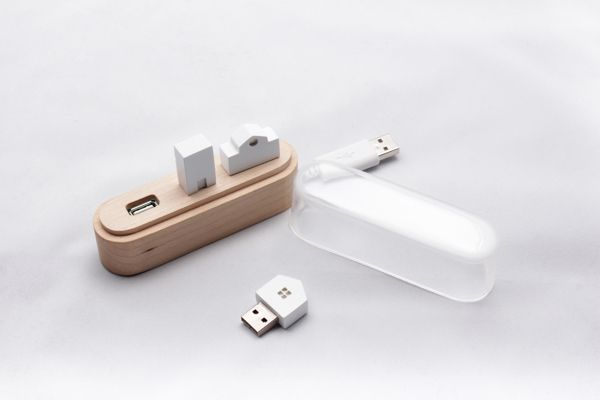 Nice USB hub. Maison by Suhyun Yoo, via Behance