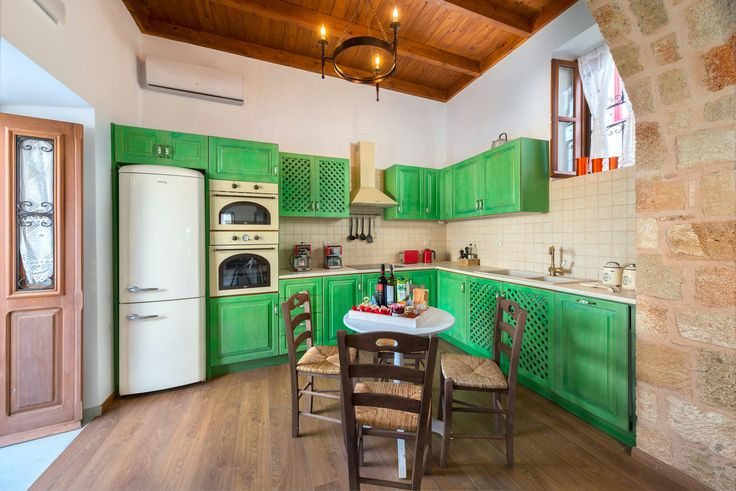 Kitchen Luxury Villa Eftihia in the heart of Lindos