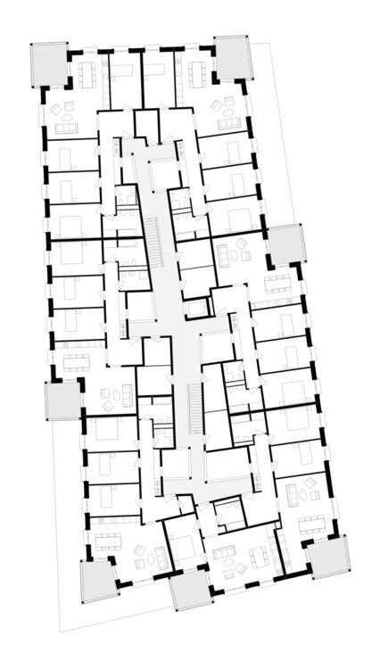 Mehr als Wohnen Baugenossenschaft Zürich Haus B - Miroslav Šik Architekt
