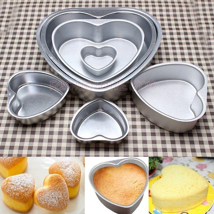 "3""4""5""6""8""10""11"" Heart Shape Baking Pan Tin DIY Cake Bakeware Mould Wedding Tool #Unbranded"
