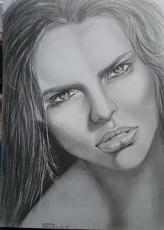 #drawing #portrait #ritratto #picture #design #arte #art #followme #artbytamara #picture #pensil #charcoal  #paginafacebook Art by Tamara Disegno eseguito con matita carboncino carta Canson grigia dimensione A4