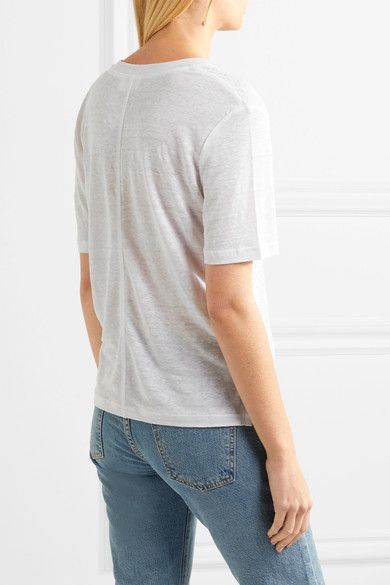 FRAME - Slub Linen T-shirt - White - x small