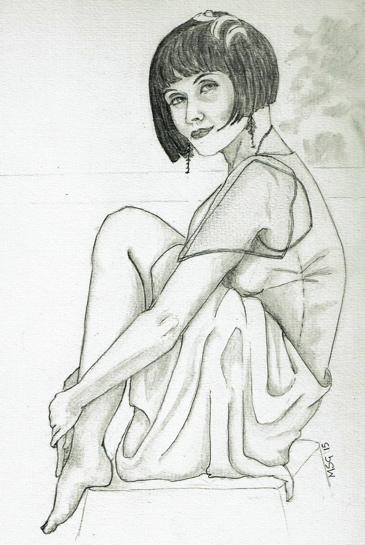 Articulate Craft - first attempt at drawing Phryne,  0.5 mechanical pencil, 2b and light wash soluble graphite on watercolour board.