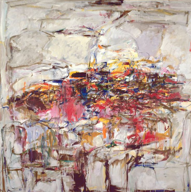 "Joan Mitchell -- ""City Landscape"" 1955. Oil on linen, 80 x 80 inches (203.2 x 203.2 cm). The Art Institute of Chicago, Gift of Society for Contemporary American Art"