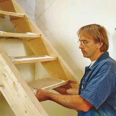 wangentreppe pinnwand 1 treppe selber bauen treppe. Black Bedroom Furniture Sets. Home Design Ideas