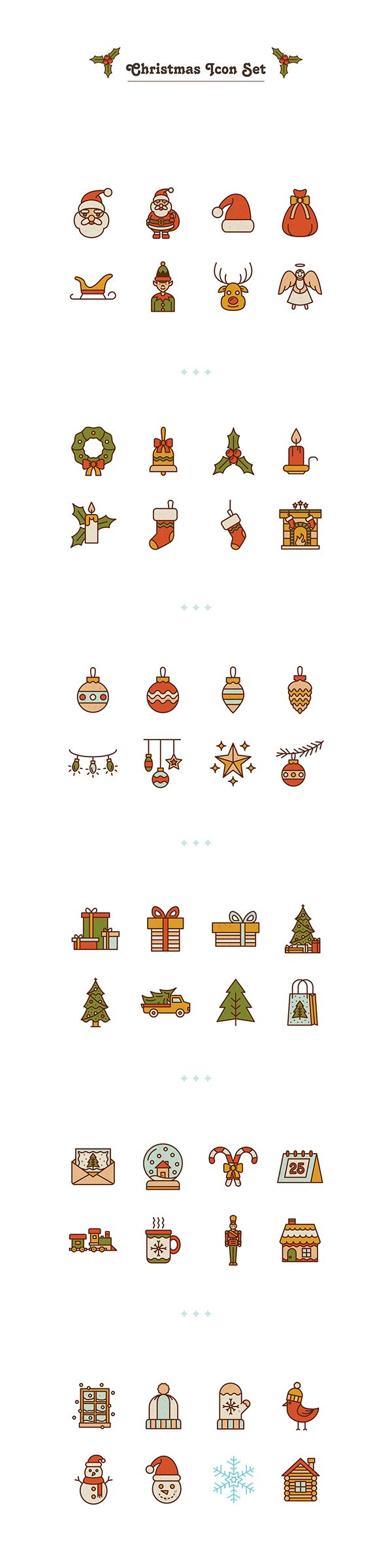 Free Christmas Icons by Selin Ozgur www.behance.net/... #free #icon #flaticon…