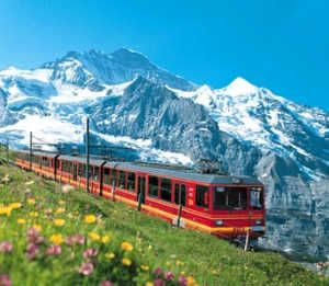 May 3rd - Jungfraujoch Train Station, Bernese Oberland, Switzerland * For staggering Alpine scenery and glacier views, take a train to Jungfraujoch Terminus, Europe's highest railroad station. Returning, go by way of the picturesque town of Grindelwald, dramatically set beneath towering Eiger Peak.