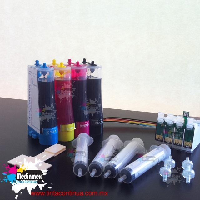 Sistema de tinta continua Epson, cargado de tinta fotografica, incluimos manuales, soporte en linea o via telefonica.