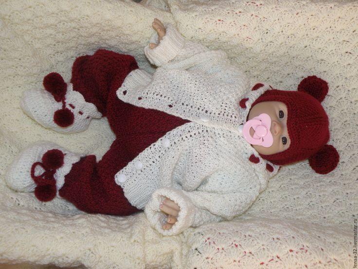 Купить Комплект для новорожденного - костюм для новорожденного, плед для…