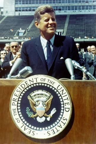 Photo: President Kennedy Speaking at Rice University, Sept. 9, 1962 : 24x16in 2