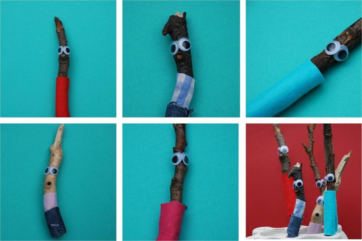 Stick Man based craft for kids from red Ted Art