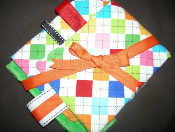 Taggie Security Blanket  Baby Neutral by TwirlyGirlyCouture, $15.00