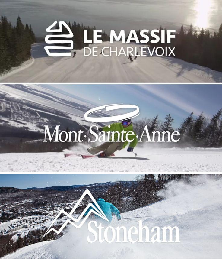 Le Massif, Mont-Sainte-Anne et Stoneham, les avez-vous toutes visitées ?