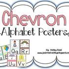 Chevron Obsession!    Here are some cute chevron alphabet posters featuring the adorable Ashley Hughes' alphabe...