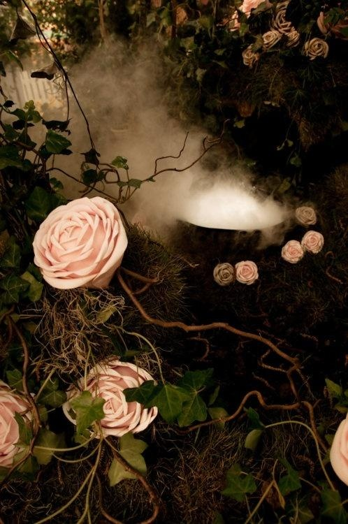 """An evening in the rose garden, a Pavane No. 2 by Gwendolyn-Mary Inspiration ... Pavane No. 2 (lush, floral middle note) combines Shimmering water lily, sacred Moroccan red rose, and stargazer lily for a full-bodied, floral accord. Pavane No. 2 is inspired by Felix Mendelssohn's """"Wedding March"""" from his suite of incidental music for A Midsummer Night's Dream."""