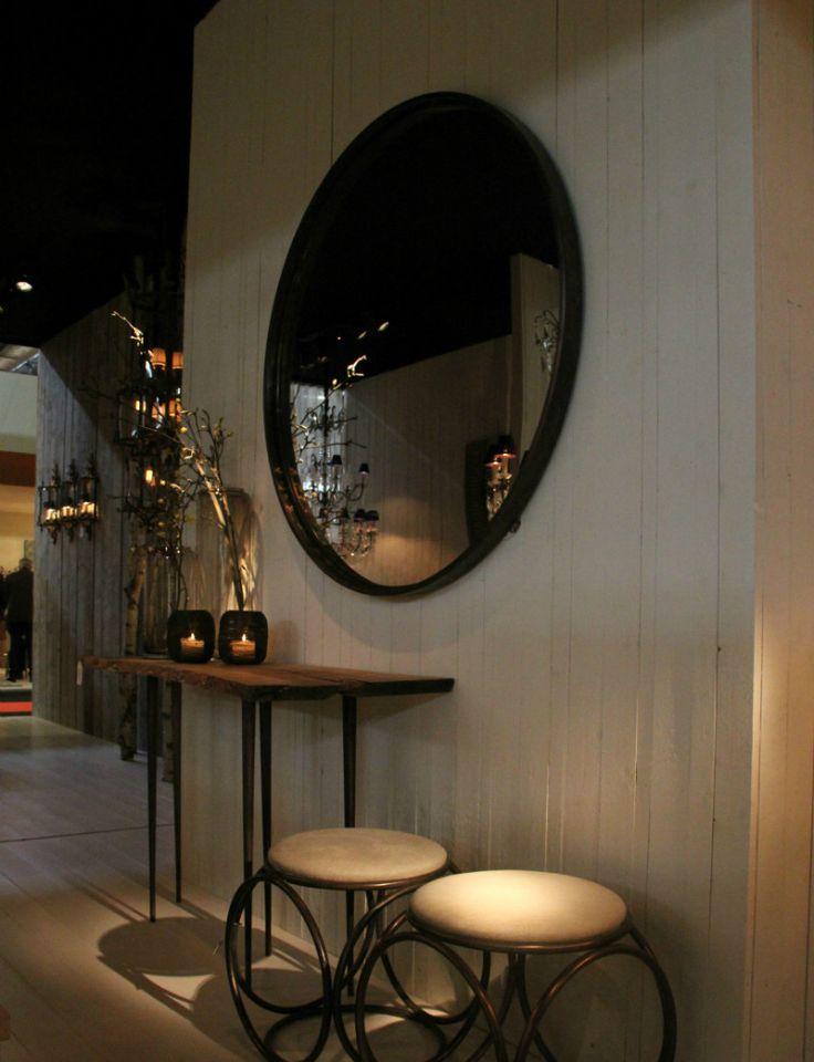25 beste idee n over ronde spiegels op pinterest ingangs plank hal spiegel en kleine ingang - Grote spiegel kleefstof ...