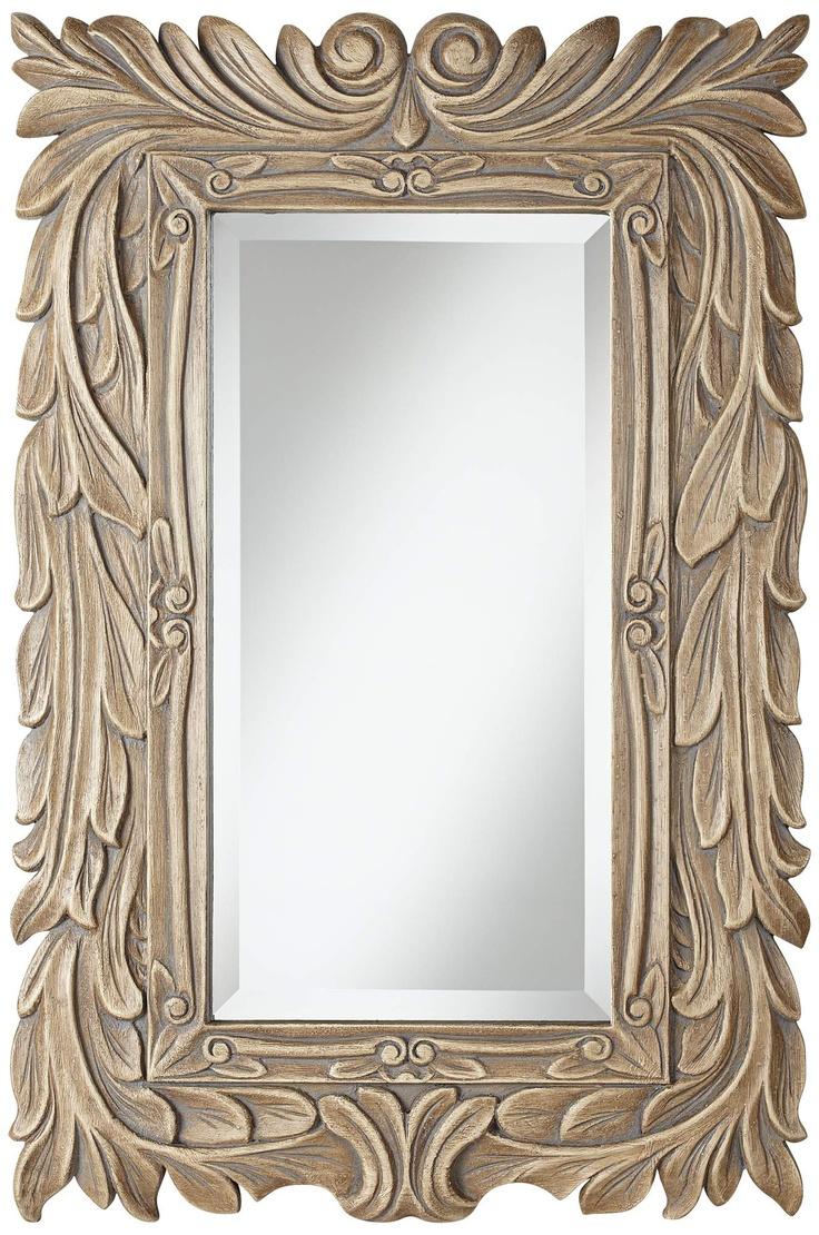 Acanthus Gray Glaze Framed Mirror | 55DowningStreet.com