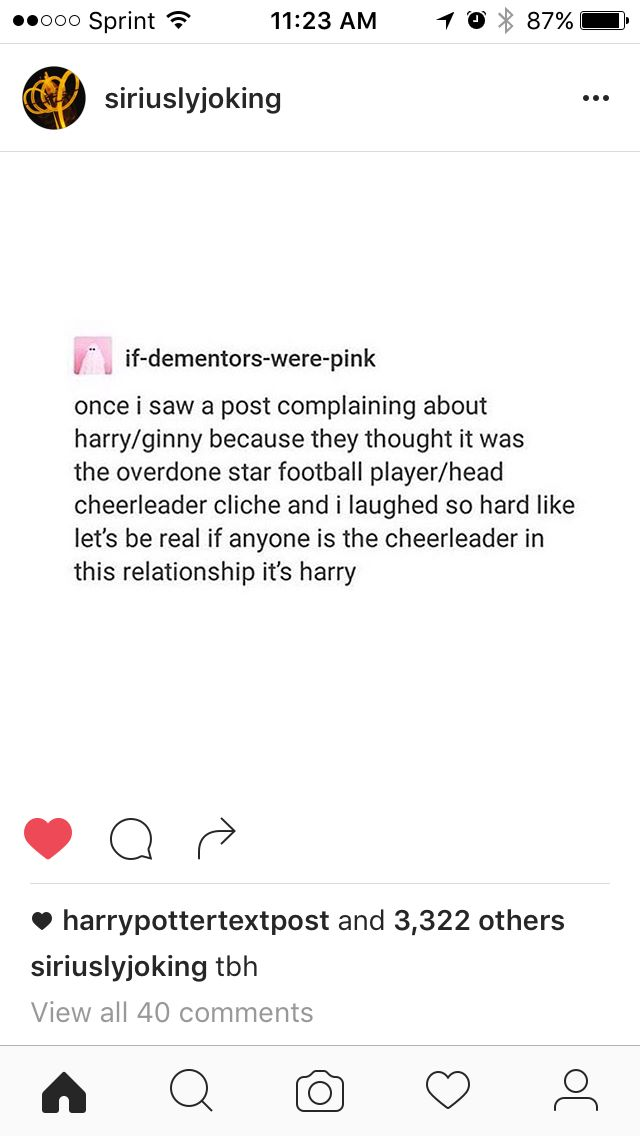 Like actually, and whoever got the stupid idea that Ginny is a cheerleader, bitch no. I don't have a problem with cheerleaders but Ginny is a warrior