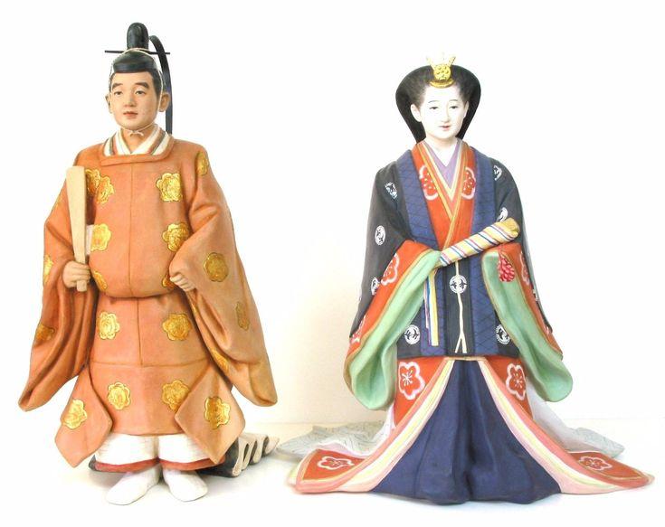hakata dolls emperor akihito and empress michiko's 1959