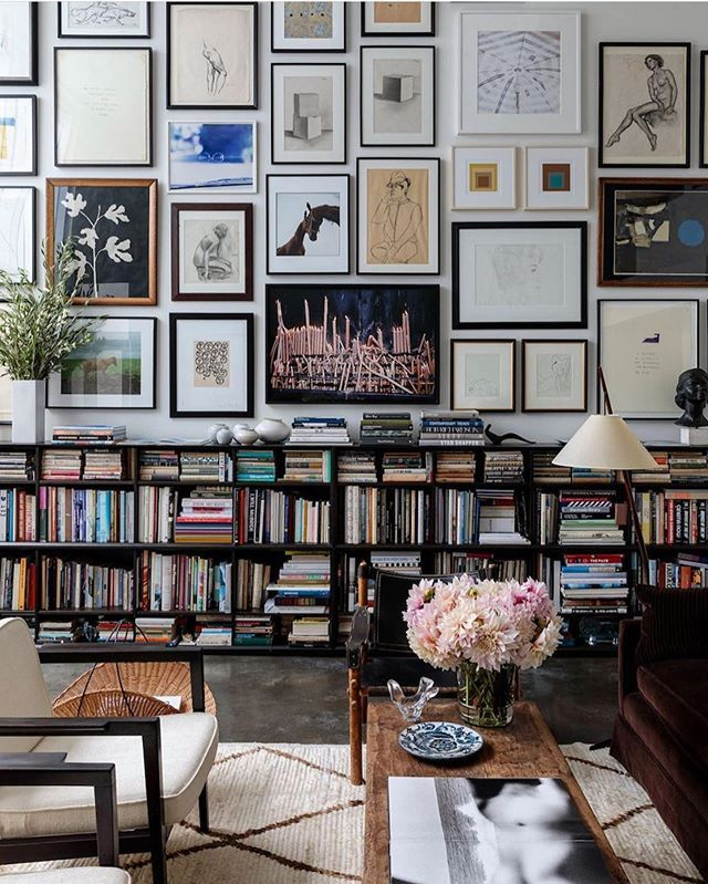 H E I R L O O M S T U D I O Dreamy Living Room Gallery Wall Living Spaces