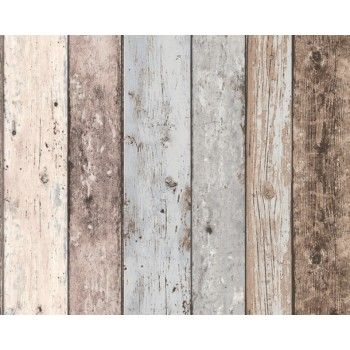 Blues White Washed Timber $95 wallpaper broker