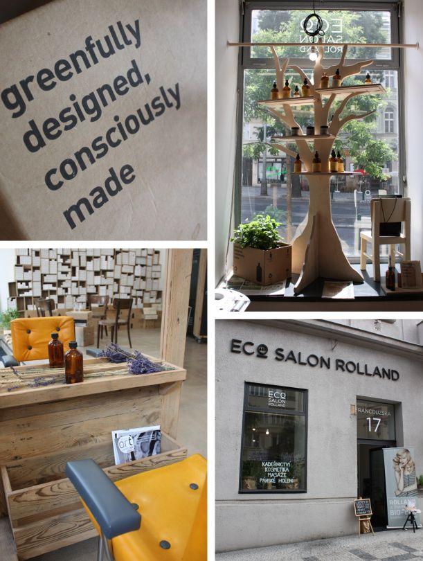 ECOart salon Rolland: kadeřnictví s přesahem. Design: Lulu Newman.