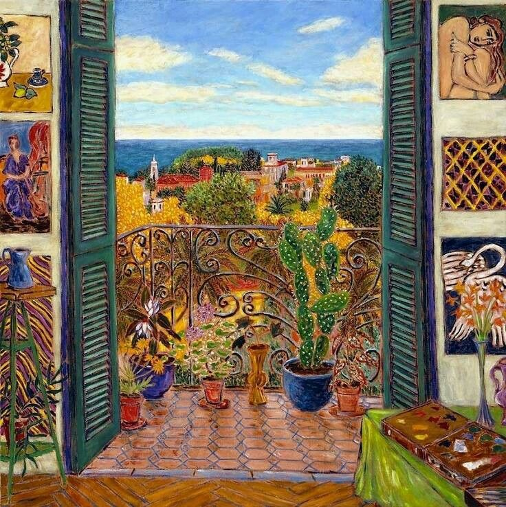 Matisse fenetre sur tanger art peintures pinterest for Matisse fenetre ouverte