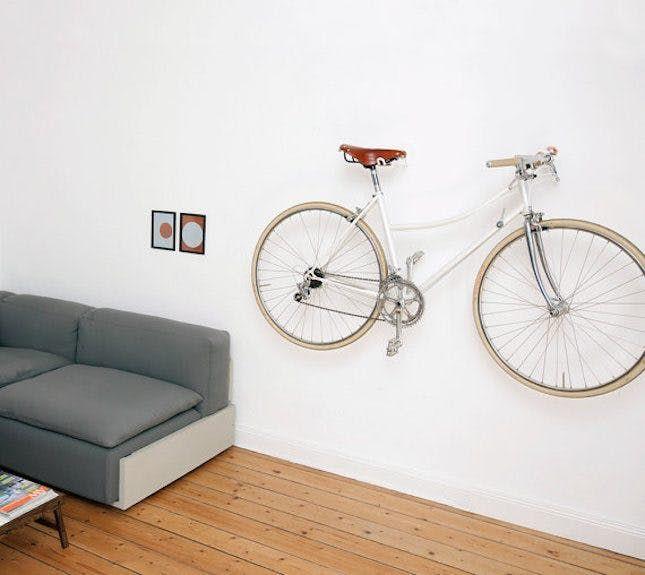 10 Creative Ways To Hang Up Your Bike Bike Hooks Small Apartment Bike Storage Bike Storage