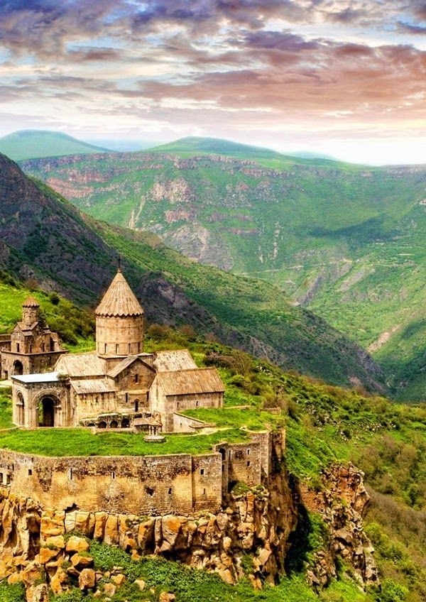 Areal View of Tatev Monastery, Armenia. Another part of my heritage stems from Armenia. Its an amazing and long history, considering that the majority of it comes from the Turkish slaughtering a large portion of the population
