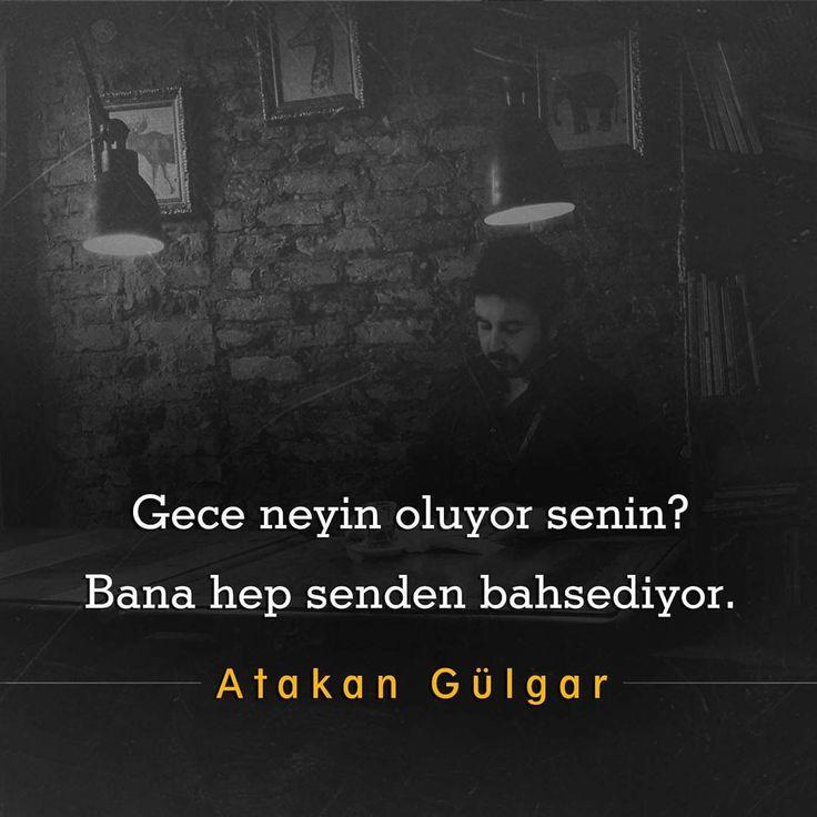 Gece neyin oluyor senin? Bana hep senden bahsediyor. - Atakan Gülgar (Kaynak: Instagram - askbaz) #sözler #anlamlısözler #güzelsözler #manalısözler #özlüsözler #alıntı #alıntılar #alıntıdır #alıntısözler #şiir #edebiyat