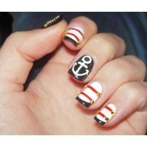 sailor: Nails Art, Nails Design, Spring Nails, Sailors Nails, Summer Nails, Nails Ideas, Nautical Theme, Hot Spring, Nautical Nails