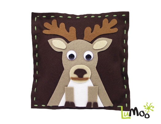 Sew Your Own Deer Cushion Kit from LuMoo.