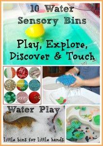 10 Water Play Sensory Bins Cover Photo