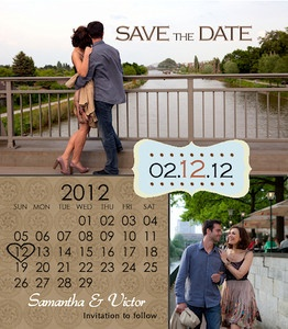 Save the Date idea...I like the use of the calendar. Actually, I love this!!