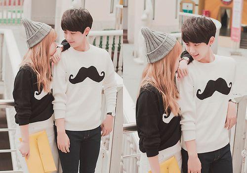 cute asian fashion matching cute couples pinterest sweats capuche. Black Bedroom Furniture Sets. Home Design Ideas