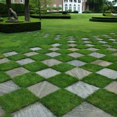 1000 images about checkerboard decor on pinterest for Checkerboard garden designs