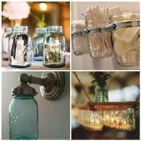 A collection of #repurposed and #recycled #mason jars.