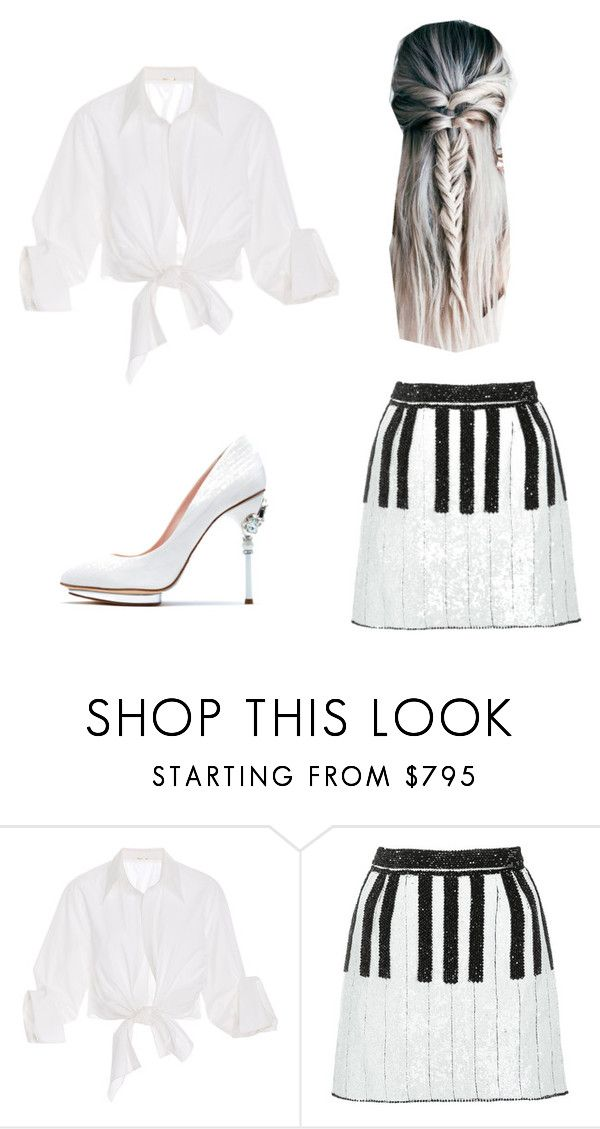 """Kwami OC: The Dove Kwami"" by kiwi8chan ❤ liked on Polyvore featuring Johanna Ortiz, Dolce&Gabbana and Oscar de la Renta"
