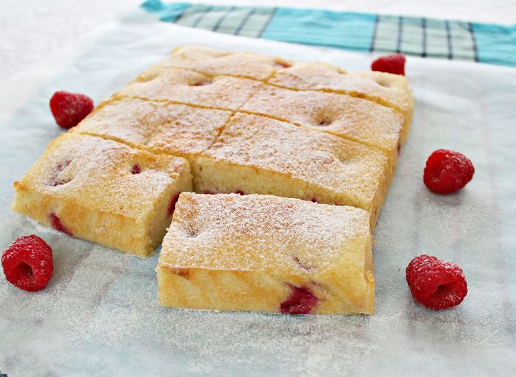 Raspberry Sliced recipe | A very small recipe as only two eggs were used and it was quite soft. If you like sour fruit cake, this is Raspberry Slice is for you otherwise use the cake recipe and add blueberries or strawberries if you prefer.