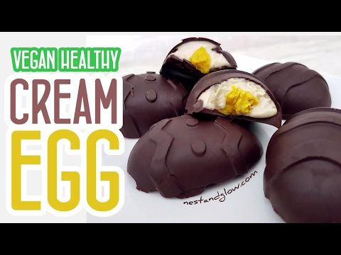 Cashew Cream Eggs Recipe - Vegan, Healthy and Refined Sugar-Free
